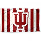 IU Hoosier Candy Stripes Flag