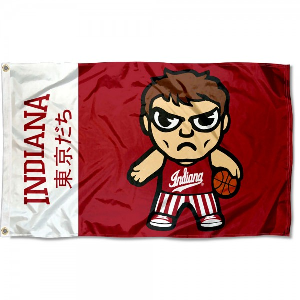 IU Hoosiers Kawaii Tokyo Dachi Yuru Kyara Flag measures 3x5 feet, is made of 100% polyester, offers quadruple stitched flyends, has two metal grommets, and offers screen printed NCAA team logos and insignias. Our IU Hoosiers Kawaii Tokyo Dachi Yuru Kyara Flag is officially licensed by the selected university and NCAA.