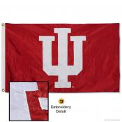 IU Hoosiers Nylon Embroidered Flag
