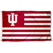 IU Hoosiers Striped Flag