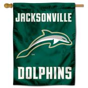 Jacksonville Dolphins Double Sided House Flag