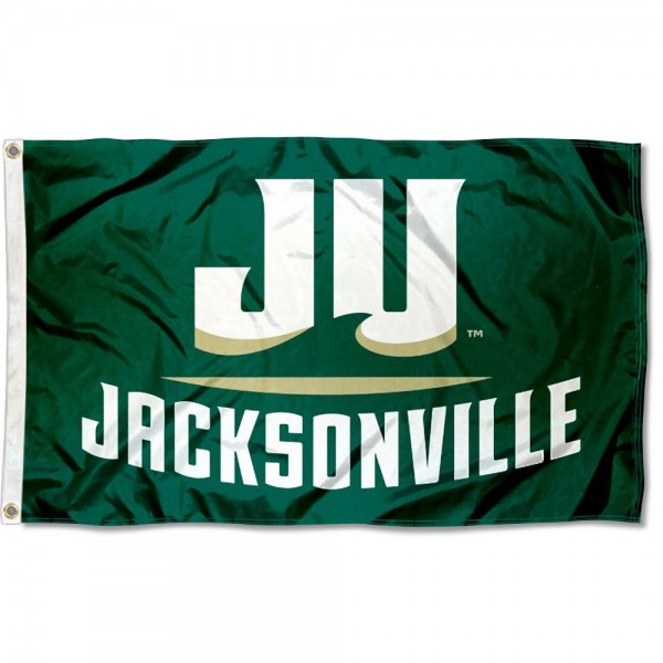 Jacksonville Dolphins Flag measures 3x5 feet, is made of 100% polyester, offers quadruple stitched flyends, has two metal grommets, and offers screen printed NCAA team logos and insignias. Our Jacksonville Dolphins Flag is officially licensed by the selected university and NCAA.