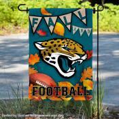 Jacksonville Jaguars Fall Football Leaves Decorative Double Sided Garden Flag