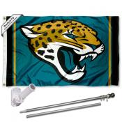Jacksonville Jaguars Flag Pole and Bracket Kit