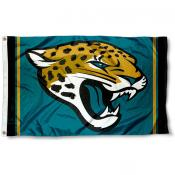 Jacksonville Jaguars Logo Flag