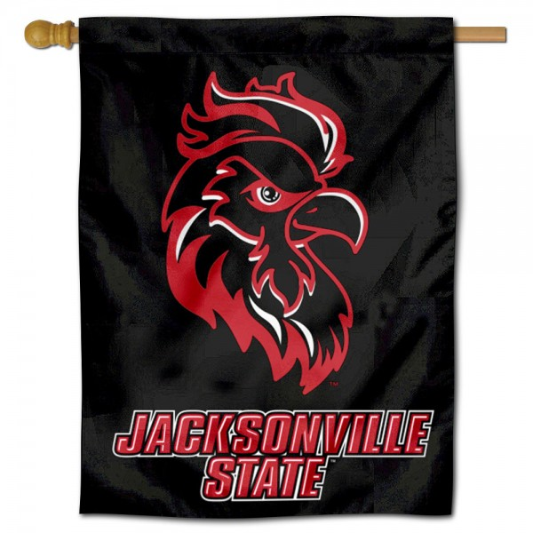 Jacksonville State Gamecocks Double Sided House Flag is a vertical house flag which measures 30x40 inches, is made of 2 ply 100% polyester, offers screen printed NCAA team insignias, and has a top pole sleeve to hang vertically. Our Jacksonville State Gamecocks Double Sided House Flag is officially licensed by the selected university and the NCAA.