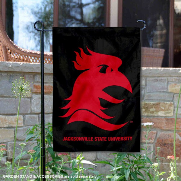 Jacksonville State Gamecocks Wordmark Logo Garden Flag is 13x18 inches in size, is made of 2-layer polyester, screen printed university athletic logos and lettering, and is readable and viewable correctly on both sides. Available same day shipping, our Jacksonville State Gamecocks Wordmark Logo Garden Flag is officially licensed and approved by the university and the NCAA.