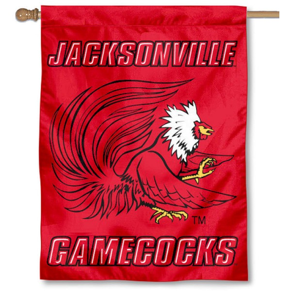 Jacksonville State University House Flag is a vertical house flag which measures 30x40 inches, is made of 2 ply 100% polyester, offers dye sublimated NCAA team insignias, and has a top pole sleeve to hang vertically. Our Jacksonville State University House Flag is officially licensed by the selected university and the NCAA