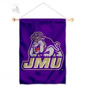 James Madison Dukes Banner with Suction Cup