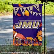 James Madison Dukes Fall Football Autumn Leaves Decorative Garden Flag