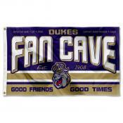 James Madison Dukes Fan Man Cave Game Room Banner Flag