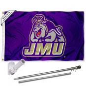 James Madison Dukes Logo Flag Pole and Bracket Kit