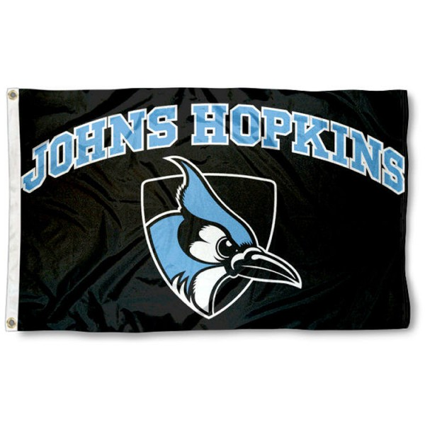 JHU Blue Jays Black Flag is made of 100% nylon, offers quad stitched flyends, measures 3x5 feet, has two metal grommets, and is viewable from both side with the opposite side being a reverse image. Our JHU Blue Jays Black Flag is officially licensed by the selected college and NCAA