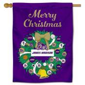 JMU Dukes Happy Holidays Banner Flag