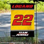 Joey Logano NASCAR Driver Double Sided Garden Flag