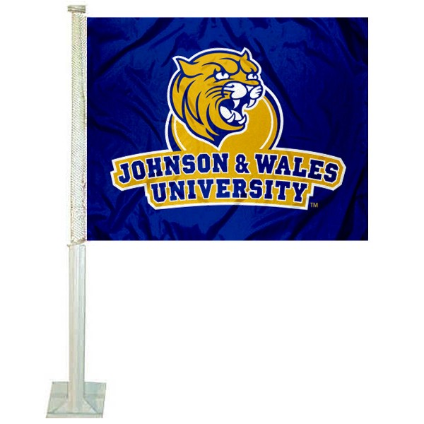 John and Wales Wildcats Logo Car Flag measures 12x15 inches, is constructed of sturdy 2 ply polyester, and has screen printed school logos which are readable and viewable correctly on both sides. John and Wales Wildcats Logo Car Flag is officially licensed by the NCAA and selected university.