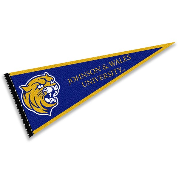 John and Wales Wildcats Pennant consists of our full size sports pennant which measures 12x30 inches, is constructed of felt, is single sided imprinted, and offers a pennant sleeve for insertion of a pennant stick, if desired. This John and Wales Wildcats Pennant Decorations is Officially Licensed by the selected university and the NCAA.