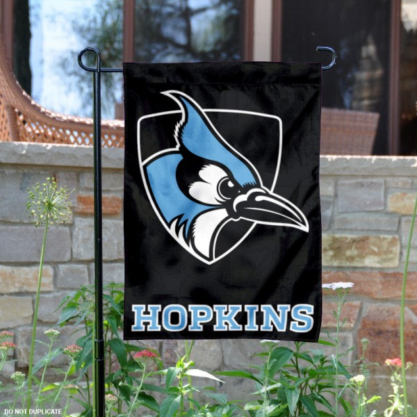John Hopkins JHU Blue Jays Garden Flag is 13x18 inches in size, is made of 2-layer polyester, screen printed Johns Hopkins University athletic logos and lettering. Available with Same Day Express Shipping, Our John Hopkins JHU Blue Jays Garden Flag is officially licensed and approved by Johns Hopkins University and the NCAA.