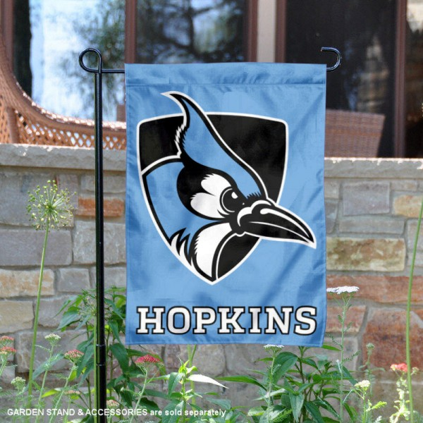 John Hopkins University Light Blue Garden Flag is 13x18 inches in size, is made of 2-layer polyester, screen printed university athletic logos and lettering, and is readable and viewable correctly on both sides. Available same day shipping, our John Hopkins University Light Blue Garden Flag is officially licensed and approved by the university and the NCAA.