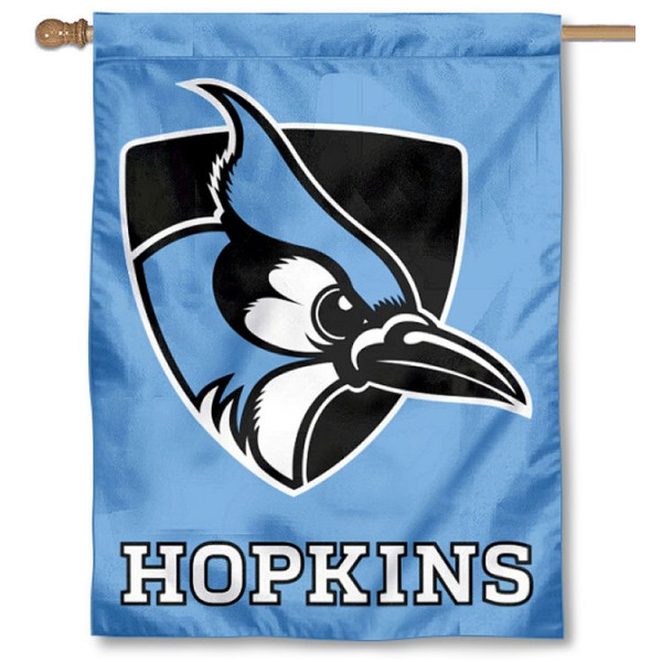Johns Hopkins Blue Jays Light Blue Double Sided House Flag is a vertical house flag which measures 30x40 inches, is made of 2 ply 100% polyester, offers screen printed NCAA team insignias, and has a top pole sleeve to hang vertically. Our Johns Hopkins Blue Jays Light Blue Double Sided House Flag is officially licensed by the selected university and the NCAA.