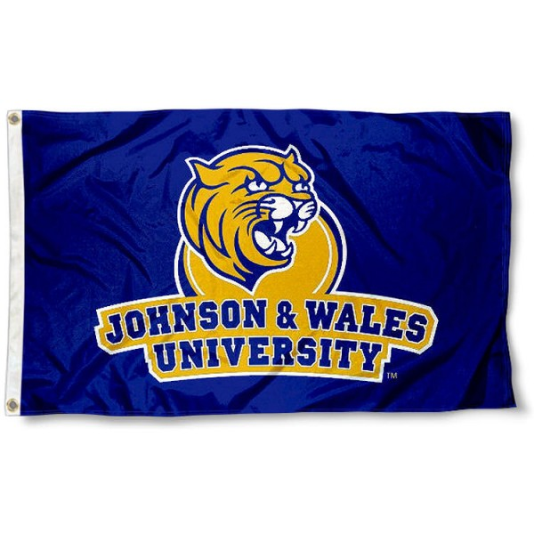 Johnson and Wales University Wildcats Logo Flag measures 3x5 feet, is made of 100% polyester, offers quadruple stitched flyends, has two metal grommets, and offers screen printed NCAA team logos and insignias. Our Johnson and Wales University Wildcats Logo Flag is officially licensed by the selected university and NCAA.