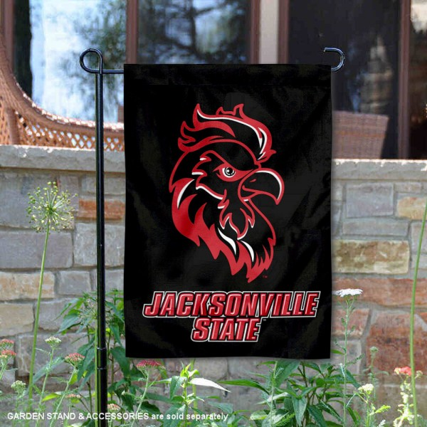 JSU Gamecocks Black Garden Flag is 13x18 inches in size, is made of 2-layer polyester, screen printed university athletic logos and lettering, and is readable and viewable correctly on both sides. Available same day shipping, our JSU Gamecocks Black Garden Flag is officially licensed and approved by the university and the NCAA.