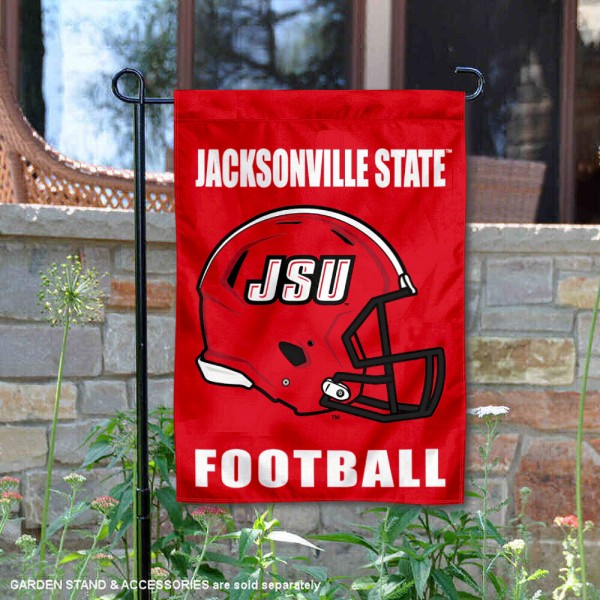 JSU Gamecocks Helmet Yard Garden Flag is 13x18 inches in size, is made of 2-layer polyester with Liner, screen printed university athletic logos and lettering, and is readable and viewable correctly on both sides. Available same day shipping, our JSU Gamecocks Helmet Yard Garden Flag is officially licensed and approved by the university and the NCAA.