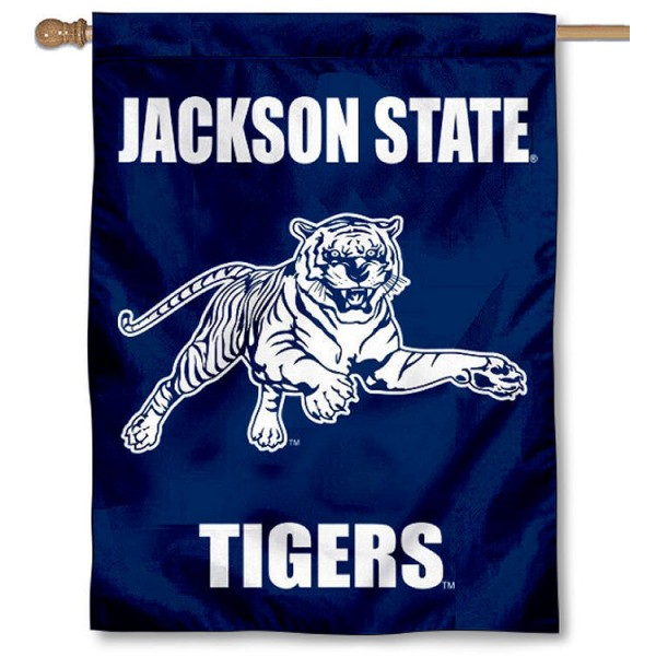 JSU Tigers Wordmark House Flag is a vertical house flag which measures 30x40 inches, is made of 2 ply 100% polyester, offers screen printed NCAA team insignias, and has a top pole sleeve to hang vertically. Our JSU Tigers Wordmark House Flag is officially licensed by the selected university and the NCAA.