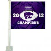 K State Wildcats Big 12 Champs Car Flag