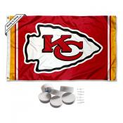 Kansas City Chiefs Banner Flag with Tack Wall Pads