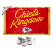 Kansas City Chiefs Chiefs Kingdom Banner Flag with Tack Wall Pads