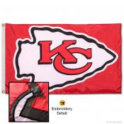 Kansas City Chiefs Embroidered Nylon Flag