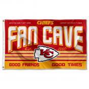 Kansas City Chiefs Fan Cave Flag Large Banner