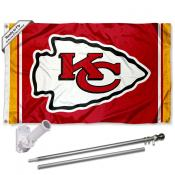 Kansas City Chiefs Flag Pole and Bracket Kit