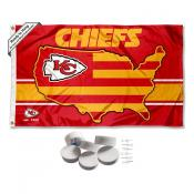 Kansas City Chiefs Nation Banner Flag with Tack Wall Pads