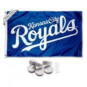 Kansas City Royals Banner Flag with Tack Wall Pads