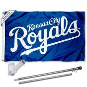 Kansas City Royals Script Flag Pole and Bracket Kit