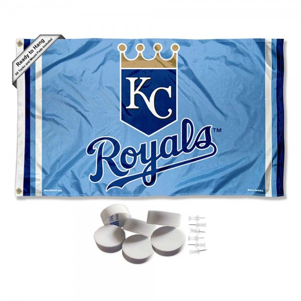 Our Kansas City Royals Tack Wall Pads is double sided, made of poly, 3'x5', has two metal grommets, indoor or outdoor, and four-stitched fly ends. These Kansas City Royals Tack Wall Padss are Officially Approved by the Boston Bruins. Tapestry Wall Hanging Tack Pads which include a 6 pack of banner display pads with 6 tacks allowing you to hang your pennant on any wall damage-free.