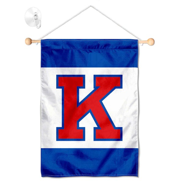Kansas Jayhawks Banner with Suction Cup