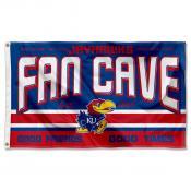 Kansas Jayhawks Fan Man Cave Game Room Banner Flag
