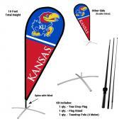 Kansas Jayhawks Feather Flag Kit