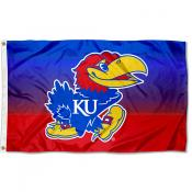 Kansas Jayhawks Gradient Ombre Flag