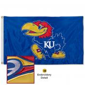 Kansas Jayhawks Nylon Embroidered Flag