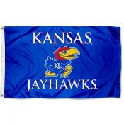 Kansas Jayhawks Wordmark Flag
