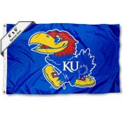 Kansas KU Jayhawks Large 4x6 Flag