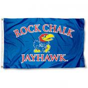 Kansas Rock Chalk Flag