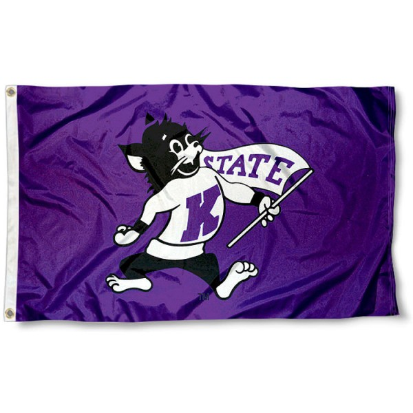 Kansas State Throwback Flag measures 3'x5', is made of 100% poly, has quadruple stitched sewing, two metal grommets, and has double sided Team University logos. Our K-State Wildcats Throwback Flag is officially licensed by the selected university and the NCAA.