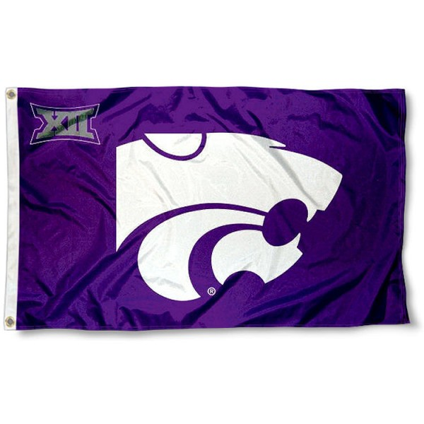Kansas State University Big 12 Flag