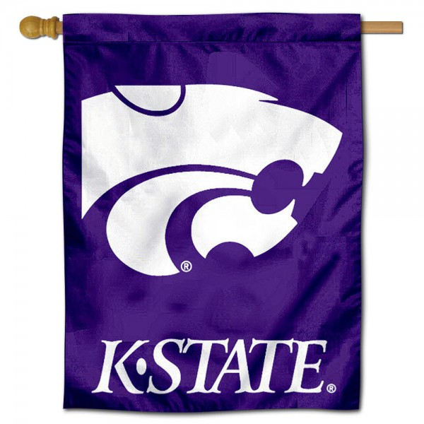 "Kansas State University Decorative Flag is constructed of polyester material, is a vertical house flag, measures 30""x40"", offers screen printed athletic insignias, and has a top pole sleeve to hang vertically. Our Kansas State University Decorative Flag is Officially Licensed by Kansas State University and NCAA."