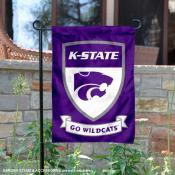 Kansas State University Go Wildcats Shield Garden Flag